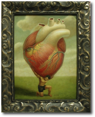 "Atlas Mark Ryden, 2001 15"" x 11"""