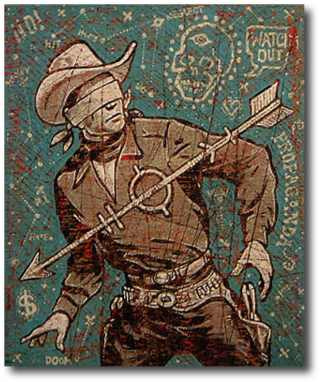 "Watch Out Jon Langford, 2003 18"" x 16"""