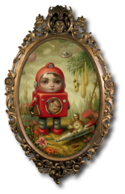 "Princess Sputnik Mark Ryden, 1998 19"" x 13"""