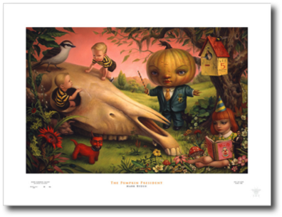 "The Pumpkin President Mark Ryden, 2008 25"" x 33"""